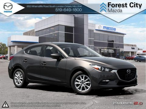 Pre-Owned 2017 Mazda 3 | GS | Backup Camera | Blindspot | Smart Brake Support | Cruise | NAV READY FWD 4dr Car