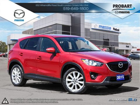 Pre-Owned 2015 Mazda CX-5 | GT | Leather | Moonroof | Premium Sound System | Bluetooth | Blindspot Detection AWD