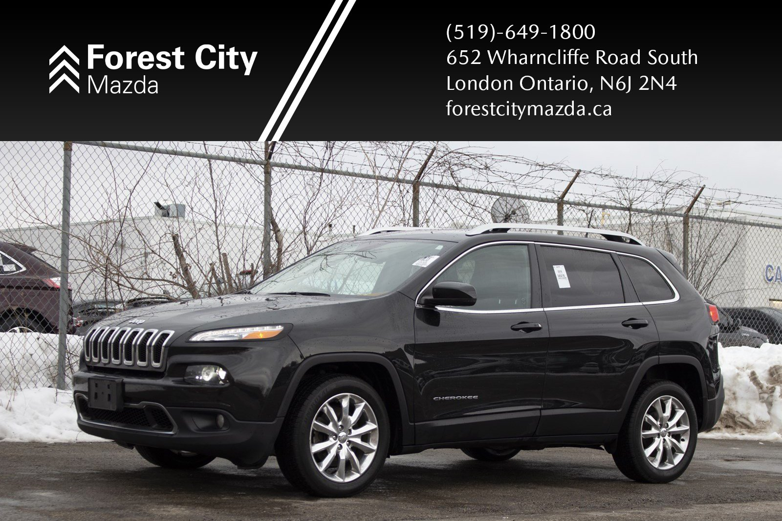 Pre-Owned 2016 Jeep Cherokee Limited,AUTOMATIC,LEATHER INTERIOR