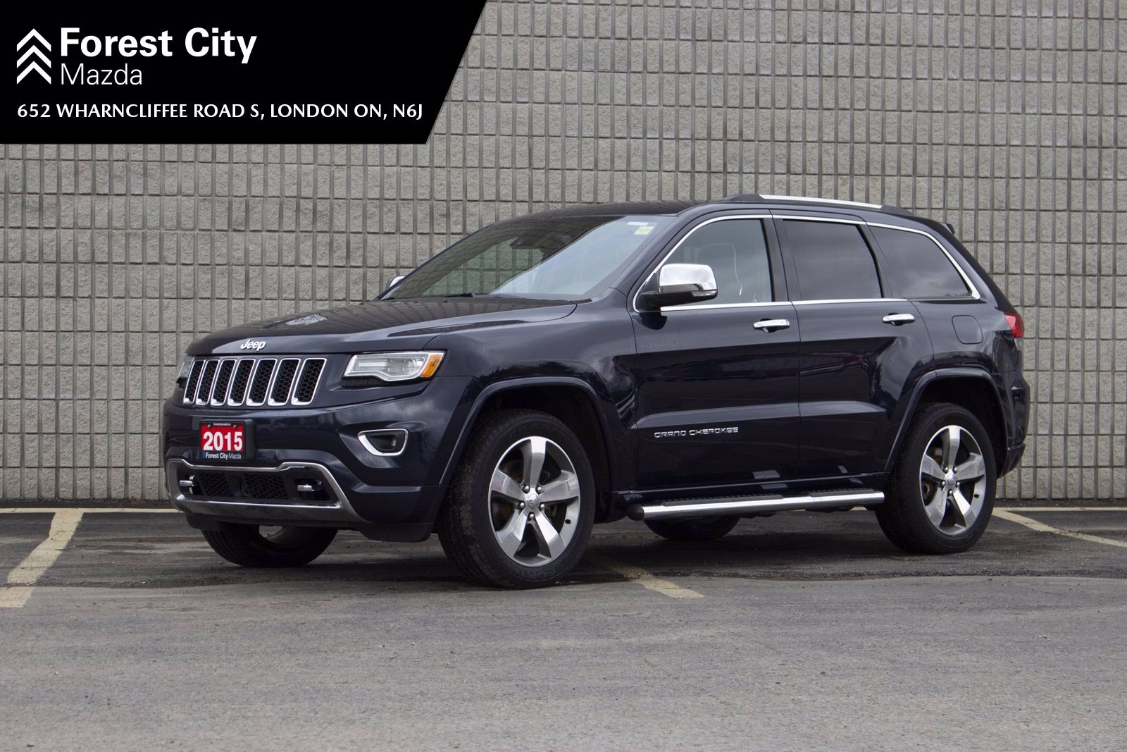 Pre-Owned 2015 Jeep Grand Cherokee Overland, DIESEL, LEATHER, MOON ROOF, NAVIGATION