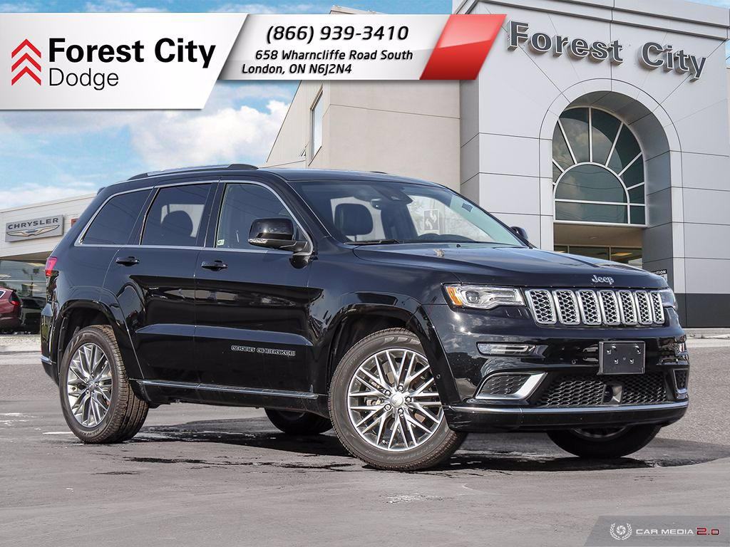 Pre-Owned 2018 Jeep Grand Cherokee SUMMIT | DEMO | LANE KEEP ASSIST | BACK UP CAM | BLIND SPOT MONITORING