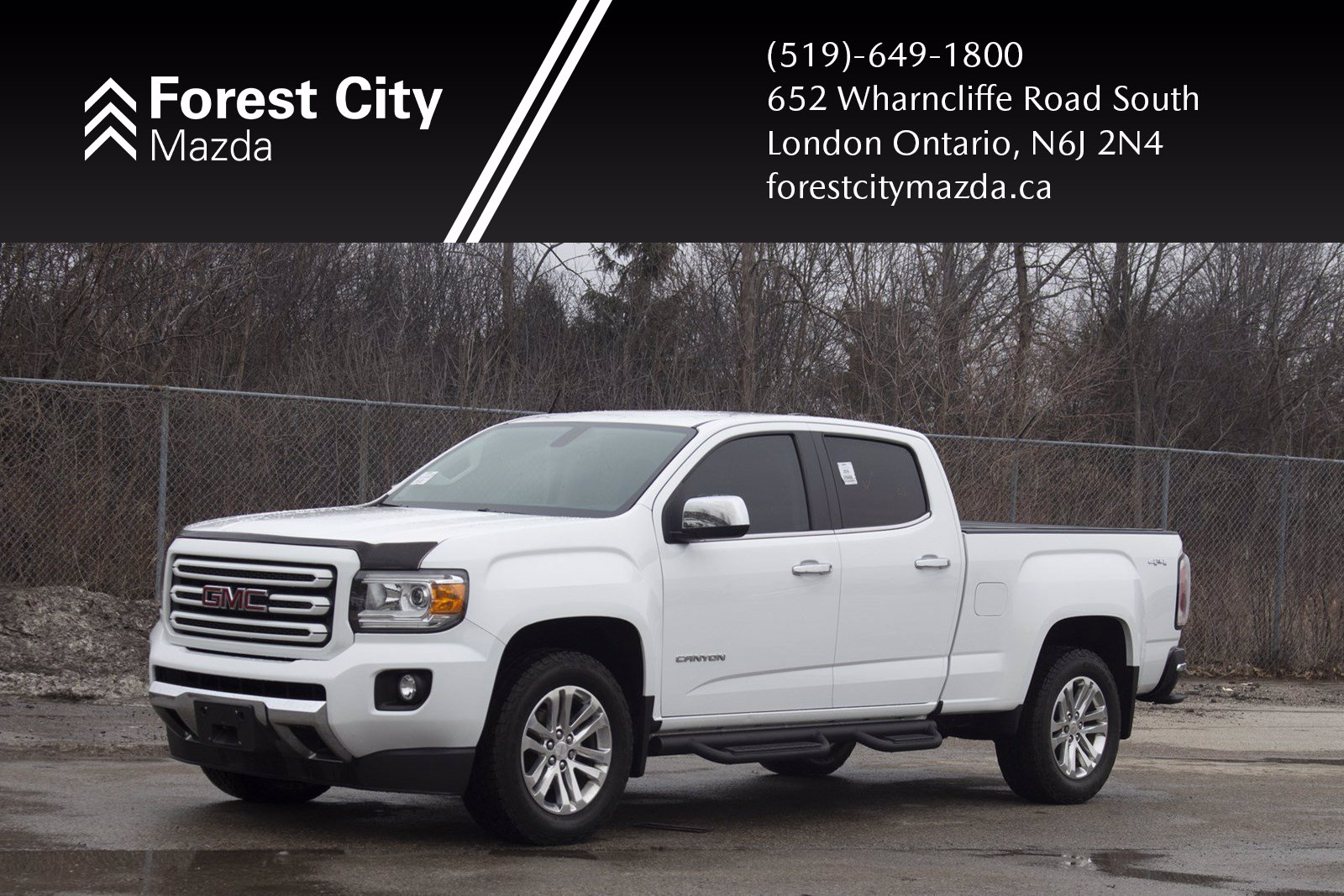 Pre-Owned 2016 GMC Canyon 4WD SLT, LEATHER, NAVIGATION