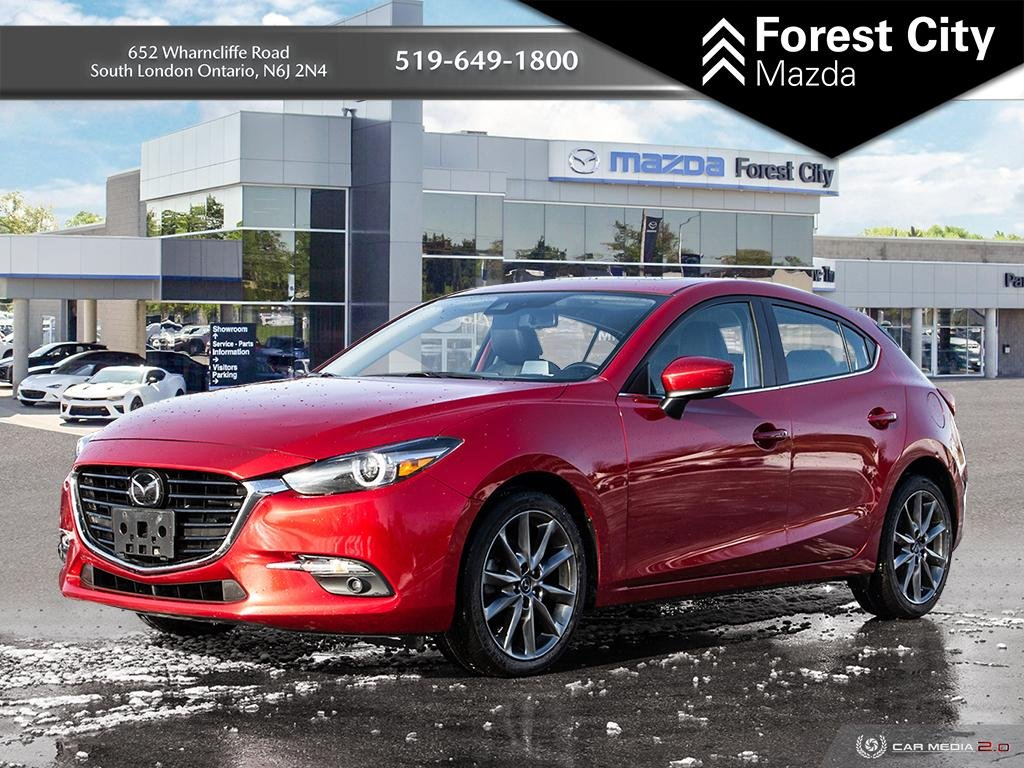 Pre-Owned 2018 Mazda3 Sport GT,PREVIOUS DAILY RENTAL, MOONROOF, NAVIGATION, HEADS UP DISPLAY