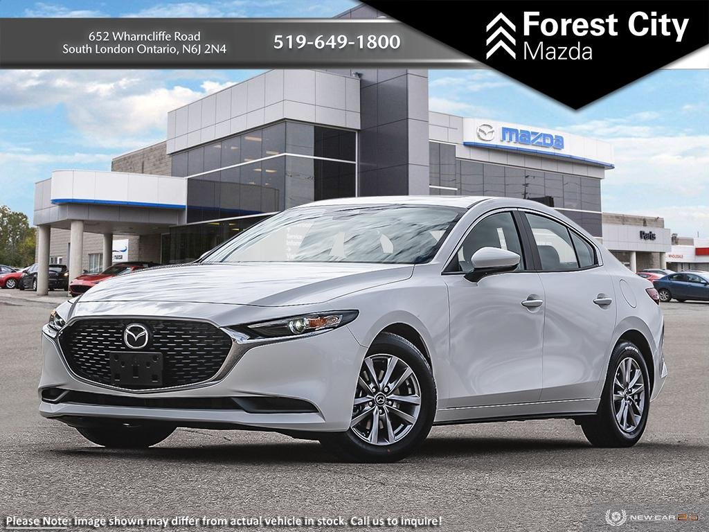 New 2019 Mazda3 GS | Snowflake White Pearl | FWD | Back Up Cam | Advanced Blind Spot Monitoring | Keyless Entry