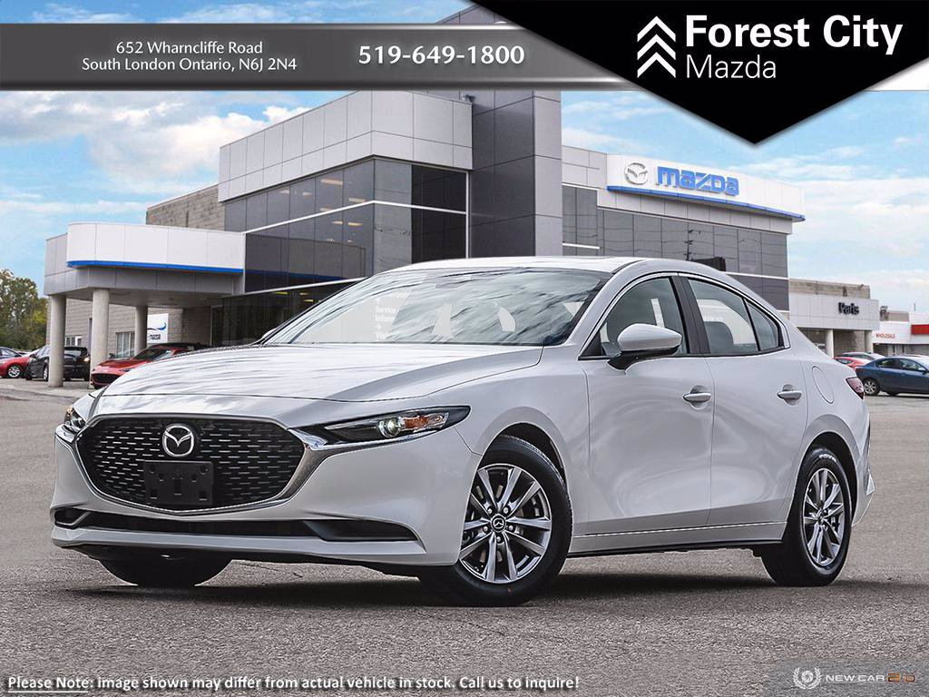 New 2019 Mazda3 GS | Snowflake White Pearl | 6-Speed Automatic | AWD | Keyless Start | Back Up Cam | Keyless Entry