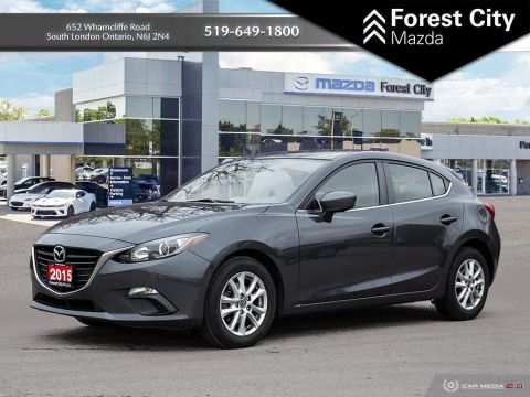 Pre-Owned 2015 Mazda3 GS-SKY, BACK UP CAMERA, MANUAL TRANSMISSION FWD Hatchback
