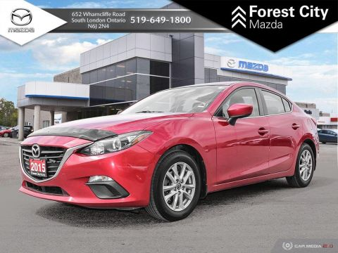 Pre-Owned 2015 Mazda3 GS, AUTOMATIC, FULL POWER OPTIONS ALLOYS FWD 4dr Car