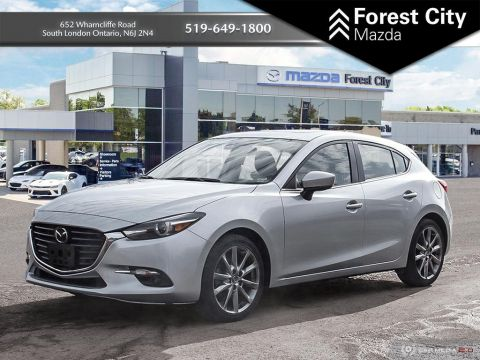 Pre-Owned 2018 Mazda3 Sport GT,PREVIOUS DAILY RENTAL, MOONROOF, NAVIGATION, HEADS UP DISPLAY FWD Hatchback