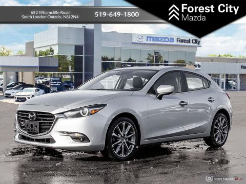 Pre-Owned 2018 Mazda3 Sport GT, PREVIOUS DAILY RENTAL, MOONROOF, NAVIGATION, HEADS UP DISPLAY FWD Hatchback