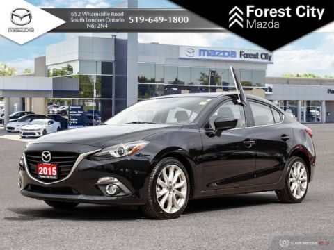Pre-Owned 2015 Mazda3 GT | SUNROOF | FWD | KEYLESS ENTRY
