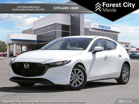 New 2019 Mazda3 Sport GS| Snowflake White Pearl | FWD | Heated Mirrors | Power Mirrors | Heated Front Seats | Bluetooth