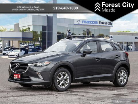 Pre-Owned 2017 Mazda CX-3 GS, ALL WHEEL DRIVE, AUTOMATIC, ALLOYS