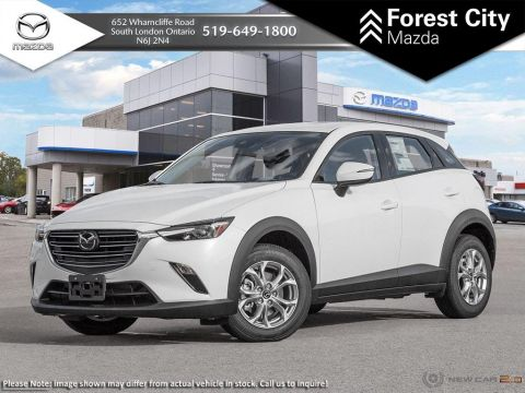 Demo 2019 Mazda CX-3 GS | Snowflake White Pearl | Bluetooth | Keyless Start | Blind Spot Monitoring | Leather Steering