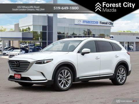 Pre-Owned 2018 Mazda CX-9 G, LEATHER, MOONROOF, HEATED SEATS, 7 PASSENGER